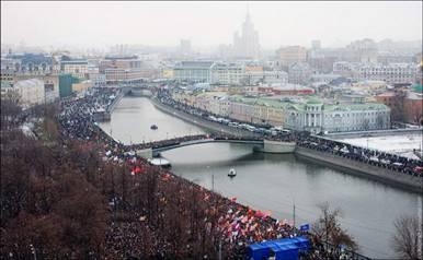 Banderas rojas (y de otros colores) inundan Moscú…