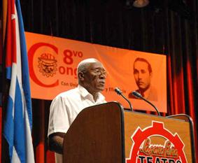 El Presidente de la Central de Trabajadores de Cuba, Salvador Valdes Mesa. Foto: periodicovictoria.cu