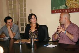 Camila Vallejo junto a dirigentes de la Federación Estudiantil Universitaria cubana.Foto: Sheyla Valladares Quevedo - Cubahora