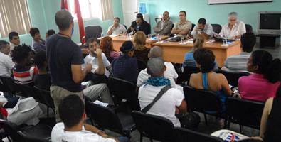 Consejo Nacional Ampliado de la Asociación Hermanos Saíz. Foto de Juventud Rebelde
