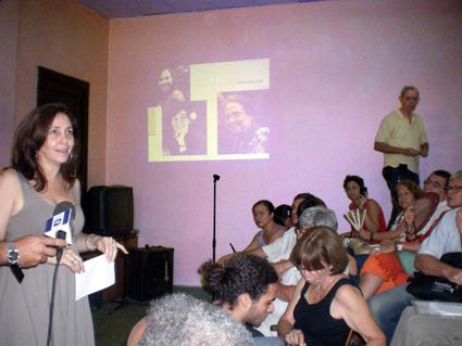Mariela Castro en la Facultad de Biologia - Foto: Isbel Díaz Torres